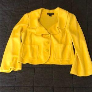 St John Bright Yellow Knit Blazer 12